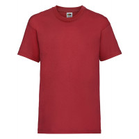 Fruit of the loom Kids Valueweight T Red