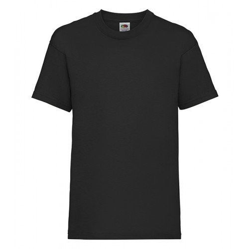 Fruit of the Loom Kids Valueweight T Black