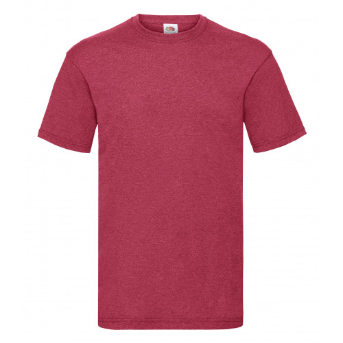 Fruit of the loom Valueweight Tee Vintage Heather Red