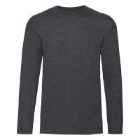 Fruit of the loom T-shirt Valueweight Long Sleeve Dark Heather Grey