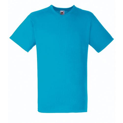 Fruit of the loom T-shirt Valueweight V-neck Azure Blue