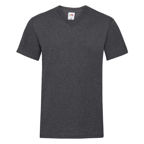 Fruit of the loom T-shirt Valueweight V-neck Dark Heather Grey