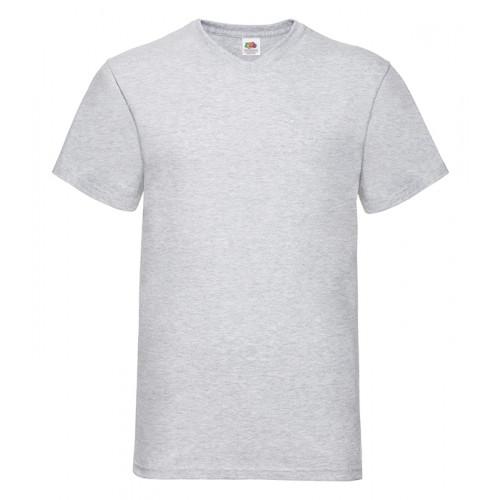 Fruit of the loom T-shirt Valueweight V-neck Heather Grey
