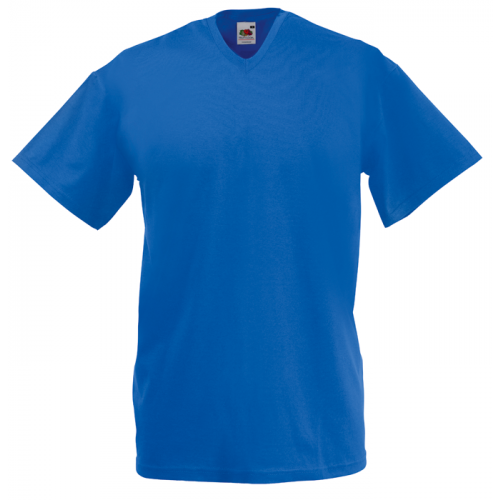Fruit of the loom T-shirt Valueweight V-neck Royal Blue