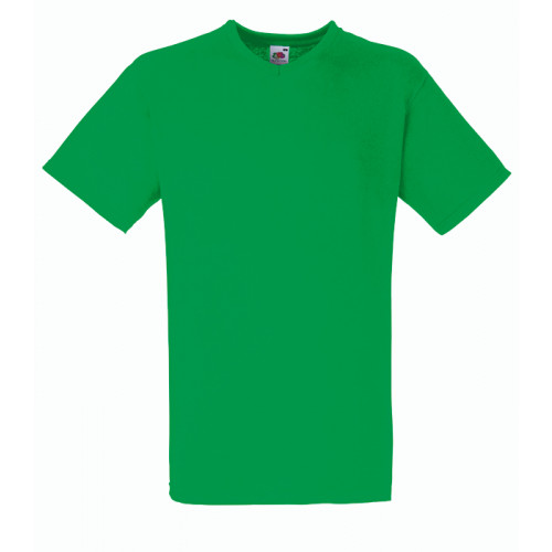 Fruit of the loom T-shirt Valueweight V-neck Kelly Green
