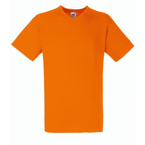 Fruit of the loom T-shirt Valueweight V-neck Orange