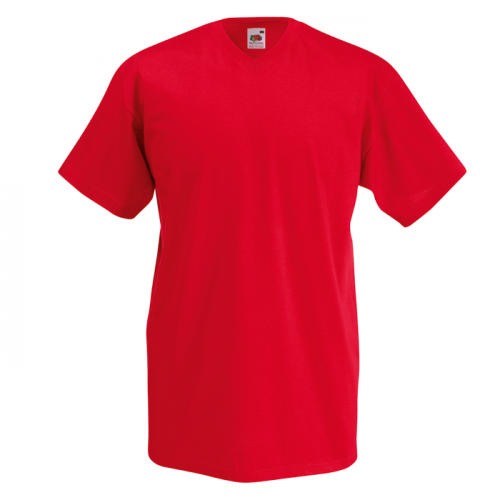 Fruit of the loom T-shirt Valueweight V-neck Red