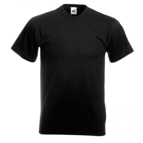 Fruit of the loom T-shirt Valueweight V-neck Black