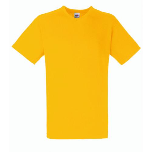 Fruit of the loom T-shirt Valueweight V-neck Sunflower
