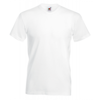 Fruit of the loom T-shirt Valueweight V-neck White