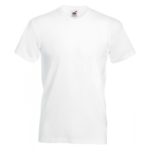Fruit of the loom T-shirt Valueweight V-neck White