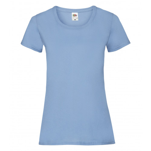 Fruit of the Loom Ladies Valueweight T New Sky Blue