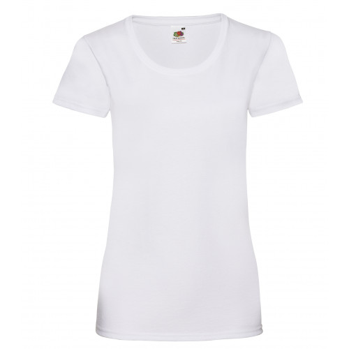 Fruit of the loom Ladies Valueweight T White
