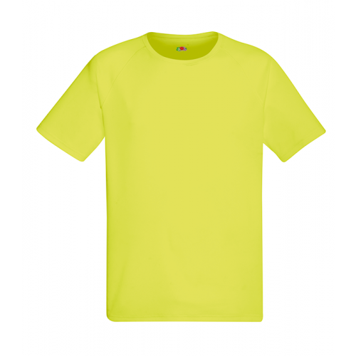 Fruit of the loom Performance T XK Bright Yellow
