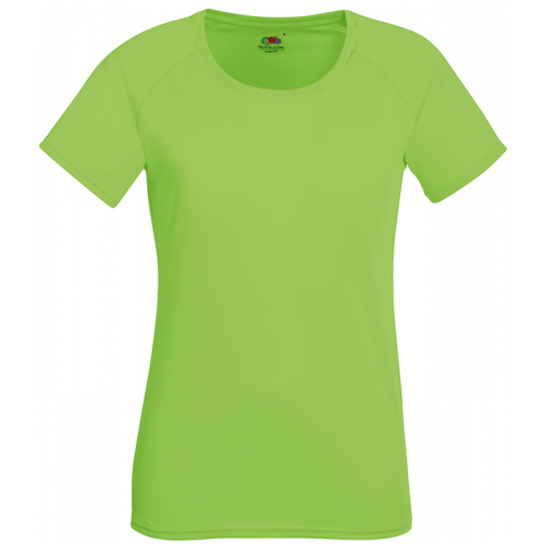 Fruit of the loom Ladies Performance T Lime