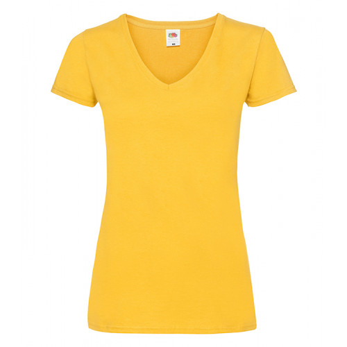 Fruit of the loom Ladies Valueweight V-Neck T Sunflower