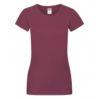 Fruit of the loom Ladies Sofspun T Burgundy