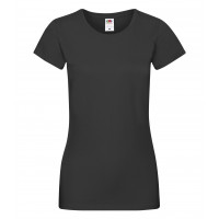 Fruit of the loom Ladies Sofspun T Black