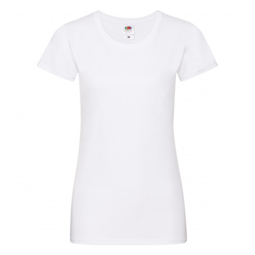 Fruit of the loom Ladies Sofspun T White