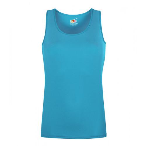 Fruit of the loom Ladies Performance Vest Azure Blue