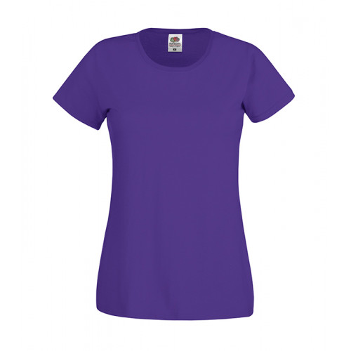 Fruit of the loom Ladies Original T Purple