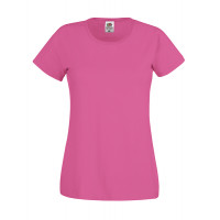 Fruit of the loom Ladies Original T Fuchsia