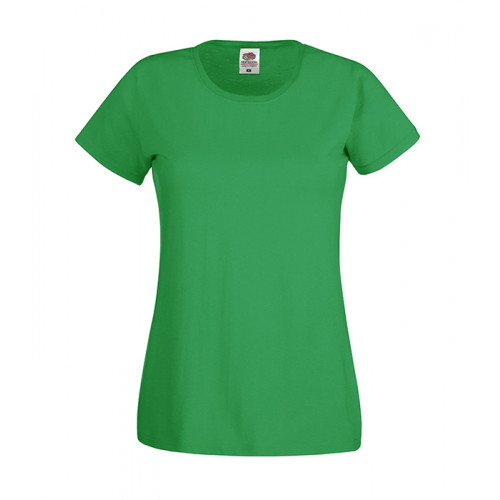 Fruit of the loom Ladies Original T Kelly Green