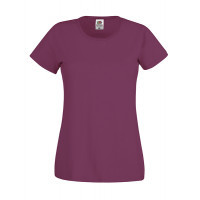 Fruit of the loom Ladies Original T Burgundy