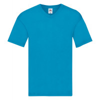 Fruit of the loom Original V-Neck T Azure Blue