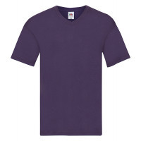 Fruit of the loom Original V-Neck T Purple