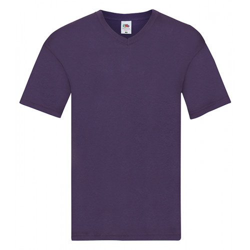 Fruit of the loom Original V-Neck T Purple