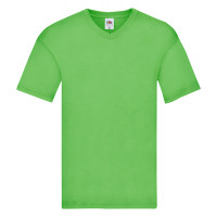 Fruit of the loom Original V-Neck T Lime