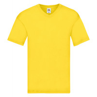 Fruit of the loom Original V-Neck T Yellow