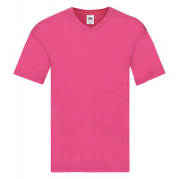 Fruit of the loom Original V-Neck T Fuchsia