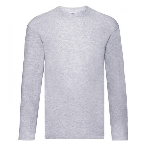 Fruit of the loom Original L/S T Heather Grey