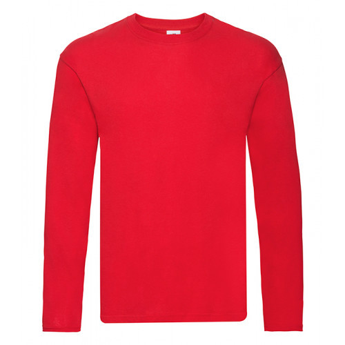 Fruit of the loom Original L/S T Red