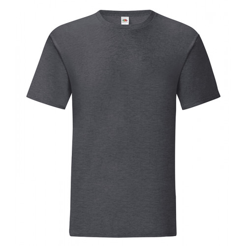 Fruit of the loom Iconic Ringspun T Dark Heather Grey
