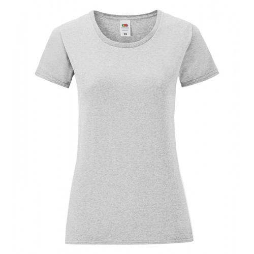 Fruit of the loom Ladies Iconic Ringspun T Heather Grey