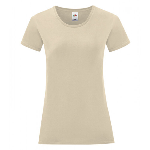 Fruit of the loom Ladies Iconic Ringspun T Natural