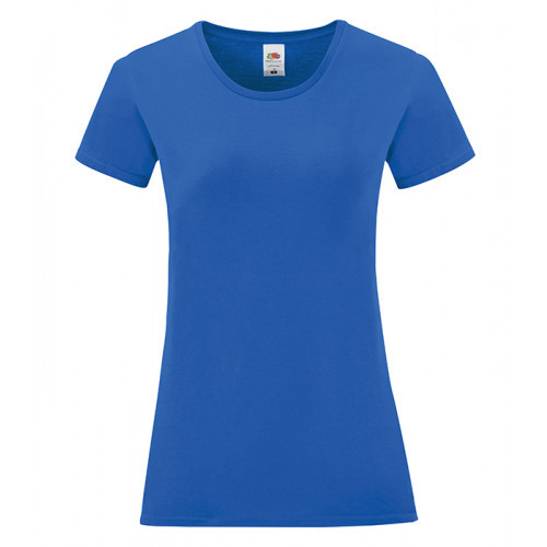 Fruit of the loom Ladies Iconic Ringspun T Royal Blue