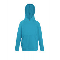 Fruit of the loom Kids Lightweight Hooded Sweat Azure Blue