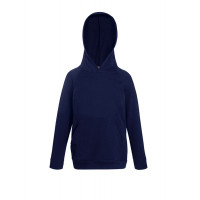 Fruit of the loom Kids Lightweight Hooded Sweat Deep Navy
