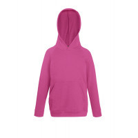 Fruit of the loom Kids Lightweight Hooded Sweat Fuchsia