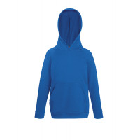 Fruit of the loom Kids Lightweight Hooded Sweat Royal Blue