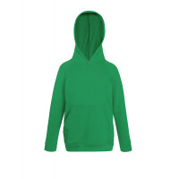 Fruit of the loom Kids Lightweight Hooded Sweat Kelly Green