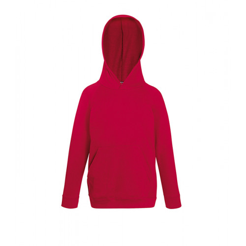 Fruit of the loom Kids Lightweight Hooded Sweat Red