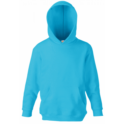 Fruit of the loom Kids Classic Hooded Sweat Azure