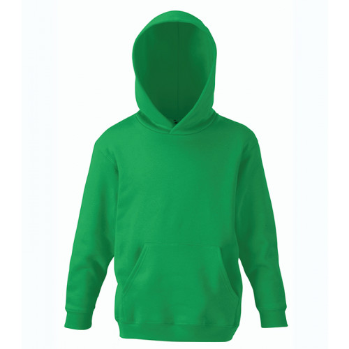 Fruit of the loom Kids Classic Hooded Sweat Kelly Green