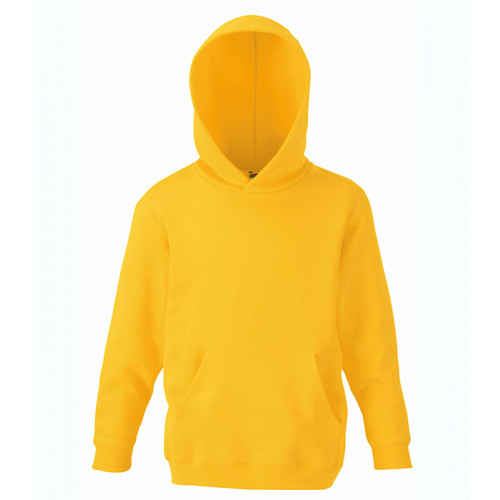 Fruit of the loom Kids Classic Hooded Sweat Sunflower