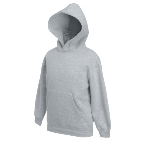 Fruit of the loom Kids Classic Hooded Sweat Heather Grey